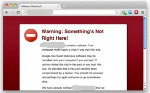 Google's Red Malicious Website Warning Screen