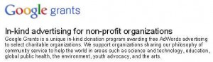 Free Ad Words Money for Non-profit Organizations